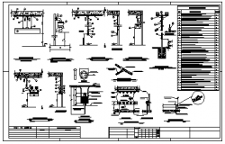 Industrial electrical installation detail design drawing