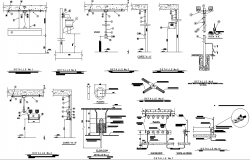 Industrial electrical installation plan detail dwg file