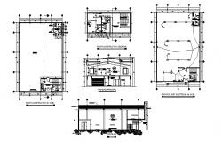 Industrial nave office sanitary installation and auto-cad details dwg file