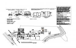 Industrial office building layout plan and auto-cad details dwg file