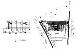 Industrial plant architecture layout plan and auto-cad details dwg file