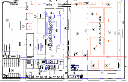 Industrial plant structural layout plan details dwg file