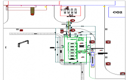 Industrial plant with pipe rack support system dwg file