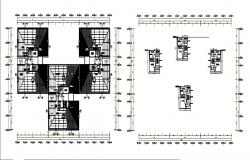 Industrial processing plant floor plan distribution details dwg file
