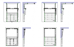 Industrial sectional door details
