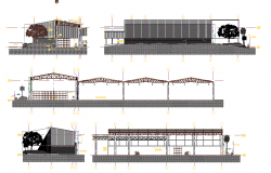 Industrial warehouse exterior design