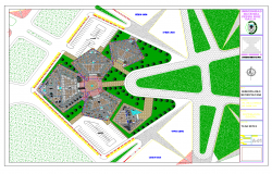 Initial educational institution project detail layout autocad file