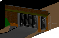 Inner door design view in 3D
