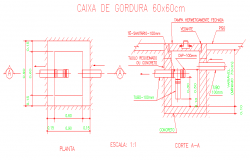 Inspection Box Drawing Design