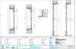 Installation Door plan dwg file