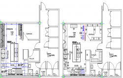 Installation Sanitary and Electronics Structure and Section Details dwg file