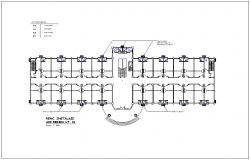 Installation of clean water line for office plan with plumbing view dwg file