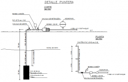 Installation of water extraction in rural zone plan detail dwg file