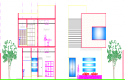 Installation plan of offices dwg file