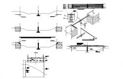Installation procedure details of vehicular bridge cad drawing details dwg file