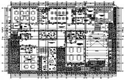 Institute Floor Plan In AutoCAD File