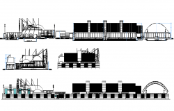 Institute structure elevation dwg file