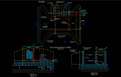 Intake plan and section detail dwg file