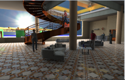 Interior design details of hotel lobby dwg file