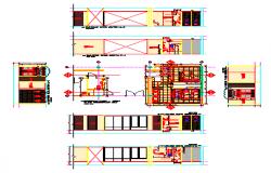 Interior design of Public Bathroom Construction detail design drawing