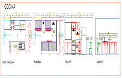 Interior design of kitchen detail drawing