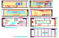 Interior design of manager office room design drawing
