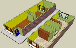 Interior detailing of house 3d