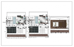 Interior furniture of bedroom detail dwg file