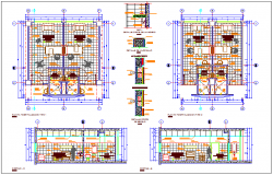 Interior view of pediatric hospital plan and elevation view dwg file