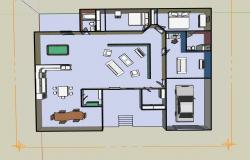 Interiors of a 2 bedroom House