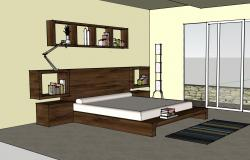 Interiors of a modern bedroom