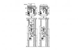 Internal FHC details with sprinkle and drain pipe cad machinery details dwg file