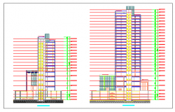 International Plaza Phase II section design drawing of commercial building design