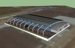International airport building 3d model cad drawing details skp file