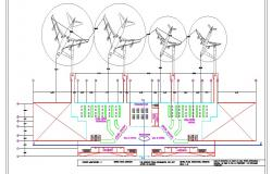 International airport layout plan cad drawing details dwg file