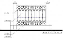 Iron Railing Cad Blocks