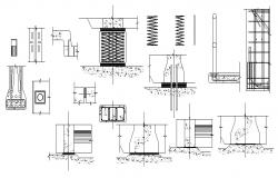 Iron bridge construction cad drawing details dwg file