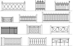 Iron railing design dwg file