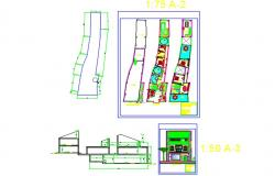 Irregular drafting of house in plot area