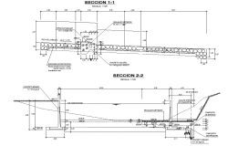 Irrigation canal section plan dwg file
