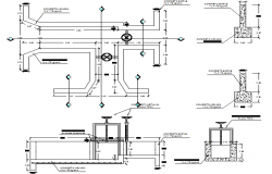 Irrigation channel gate detail concrete construction details dwg file