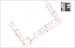 Irrigation plan for water pipe line dwg file