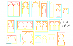 Islamic arches cad blocks
