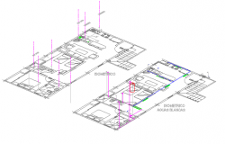Isometric View of Apartment Unit Enlargement Project dwg file