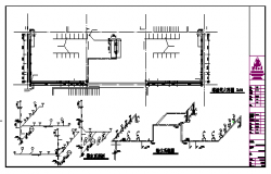 Isometric design of water supply diagram, drainage system diagram design drawing