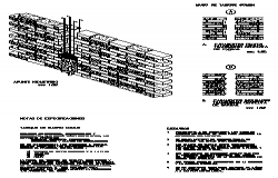 Isometric drawing of Wall of red brick annealing design drawing