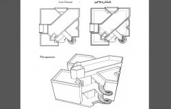 Isometric elevation and auto-cad details of bungalow dwg file