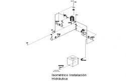 Isometric hydraulic installation detail layout file