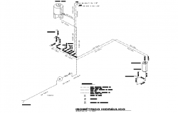 Isometric hydraulic plan detail dwg file