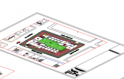 Isometric view details of structural plan of high rise building dwg file